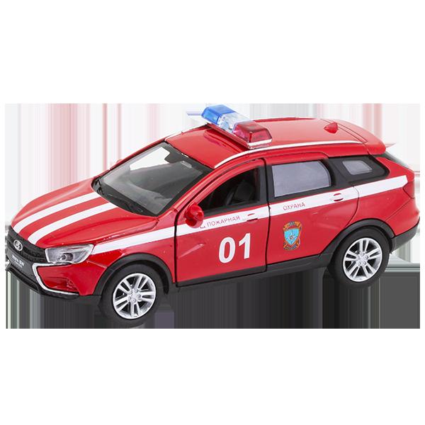 Купить Игрушка модель машины 1:34-39 Lada Vesta Sw Cross Пожарная охрана, Welly