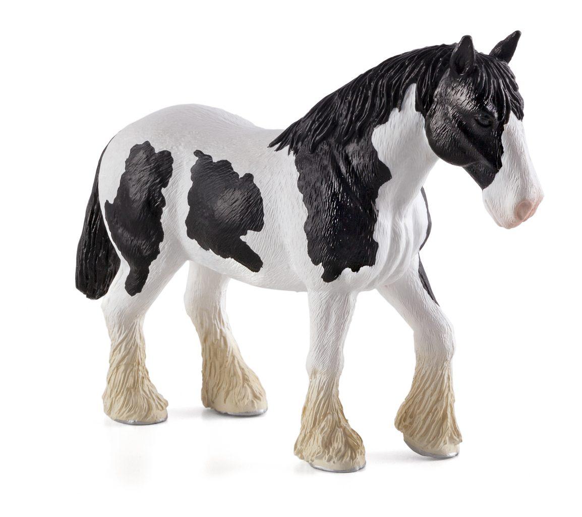 Лошадь мощной породы черно-белаяЛошади (Horse)<br>Лошадь мощной породы черно-белая<br>
