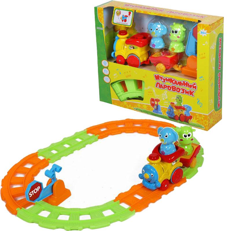 Музыкальный паровозик, свет и звук - Железная дорога для малышей, артикул: 166347