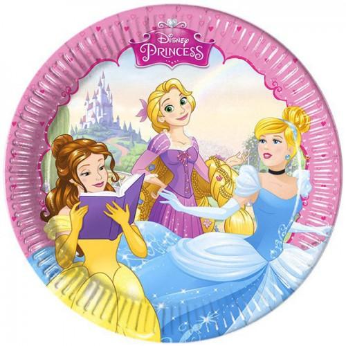 Набор из 8 бумажных тарелок серии Принцессы мечты, размер 20 см.Принцессы Дисней<br>Набор из 8 бумажных тарелок серии Принцессы мечты, размер 20 см.<br>