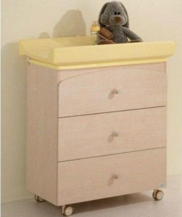 Комод с пеленальным матрасиком и ванночкой, беленныйДекор и хранение<br>Комод с пеленальным матрасиком и ванночкой, беленный<br>