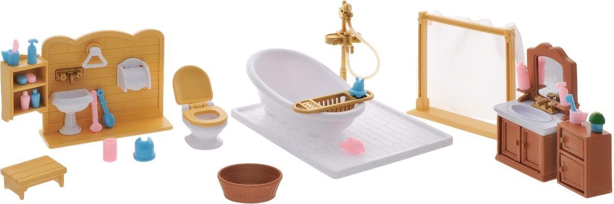 Набор мебели для ванной комнаты из серии «Счастливые друзья», с аксессуарамиКукольные домики<br>Набор мебели для ванной комнаты из серии «Счастливые друзья», с аксессуарами<br>