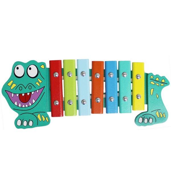Ксилофон – Крокодил, 7 тонов - Ксилофоны, артикул: 165763