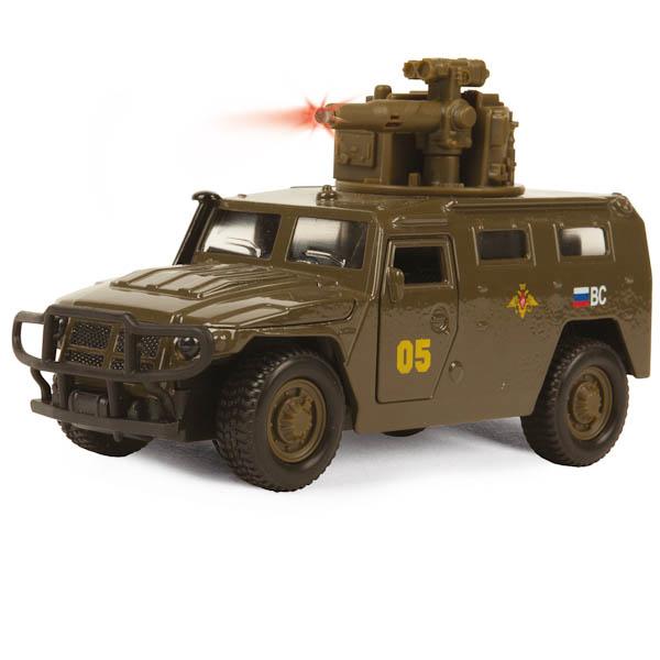 Купить Машина металлическая инерционная ГАЗ - Тигр, 1:43, со светом и звуком, Технопарк