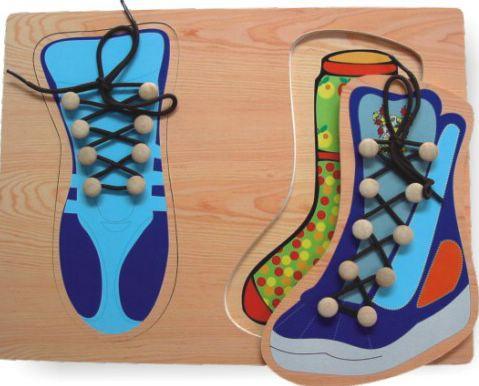 Деревянная рамка - Два ботинкаРамки и паззлы<br>Деревянная рамка - Два ботинка<br>