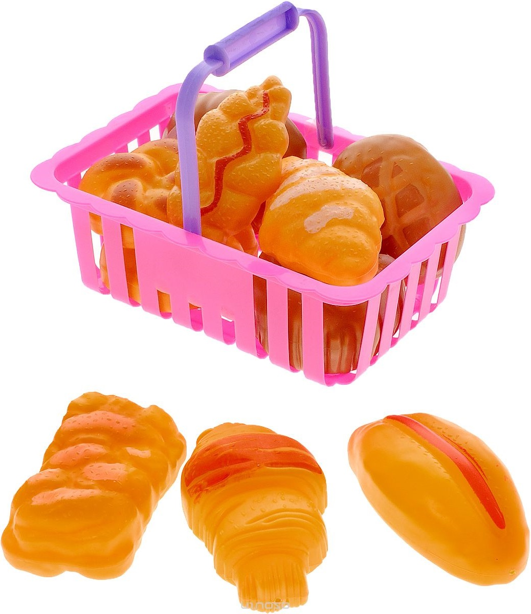 Набор продуктов «Помогаю маме» в корзине, 11 предметовАксессуары и техника для детской кухни<br>Набор продуктов «Помогаю маме» в корзине, 11 предметов<br>