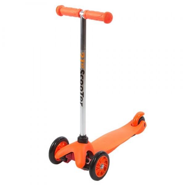 Трёхколесный оранжевый самокат Maxi Scooter SKL-06AТрехколесные самокаты<br>Трёхколесный оранжевый самокат Maxi Scooter SKL-06A<br>