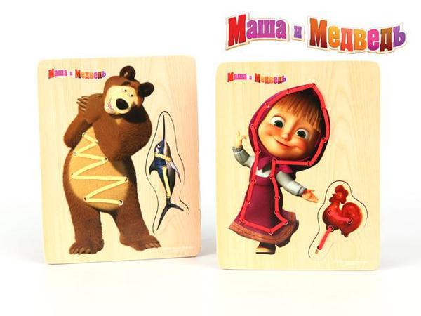 Шнуровка Маша и МедведьИгрушки Союзмультфильм<br>Шнуровка Маша и Медведь<br>