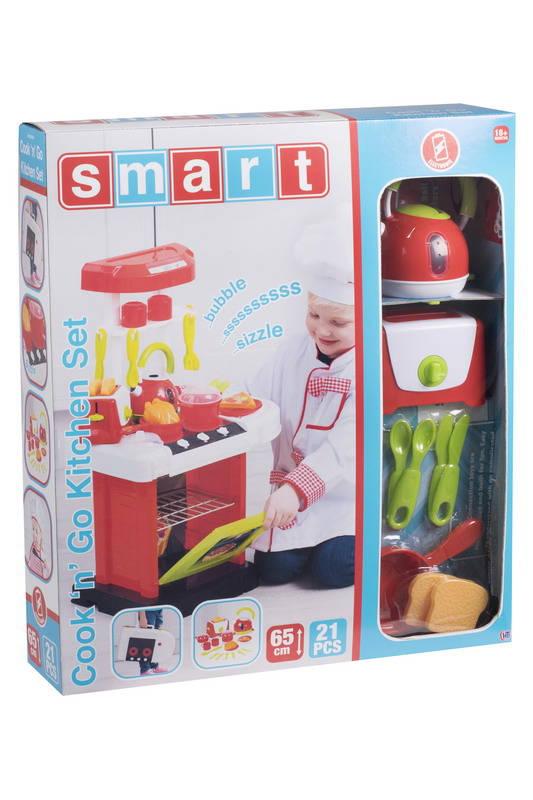 Купить Кухня портативная Smart электронная с чайником и тостером, 19 аксессуаров, HTI