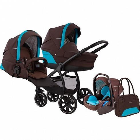 Купить Коляска детская Noordi Polaris SP 3/1, brown algiers blue