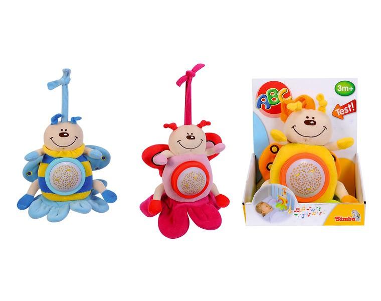 Мягкая плюшевая игрушка Насекомые, со световыми и звуковыми эффектами, 3 видаРазвивающая дуга. Игрушки на коляску и кроватку<br>Мягкая плюшевая игрушка Насекомые, со световыми и звуковыми эффектами, 3 вида<br>