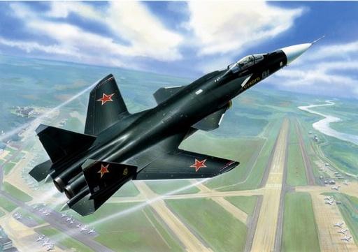 Подарочный набор. Модель для склеивания - Самолёт СУ-47 БеркутМодели самолетов для склеивания<br>Подарочный набор. Модель для склеивания - Самолёт СУ-47 Беркут<br>