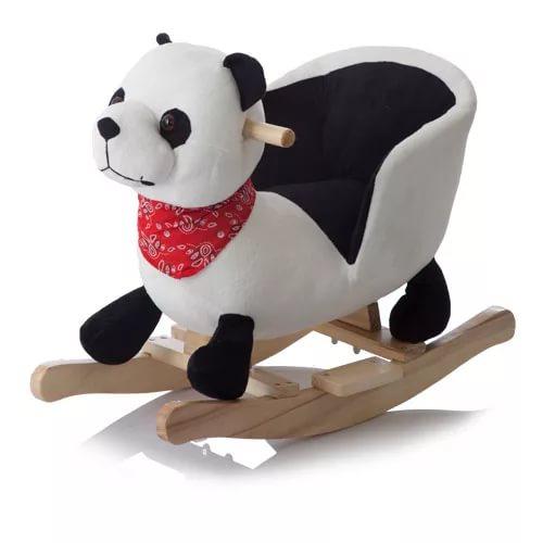 Меховая качалка. ПандаДетские кресла-качалки<br>Меховая качалка. Панда<br>