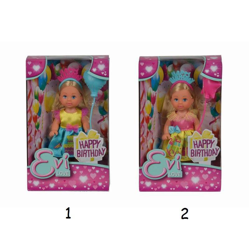 Кукла Еви - именинница, 2 вида, 12 см.Куклы Еви<br>Кукла Еви - именинница, 2 вида, 12 см.<br>