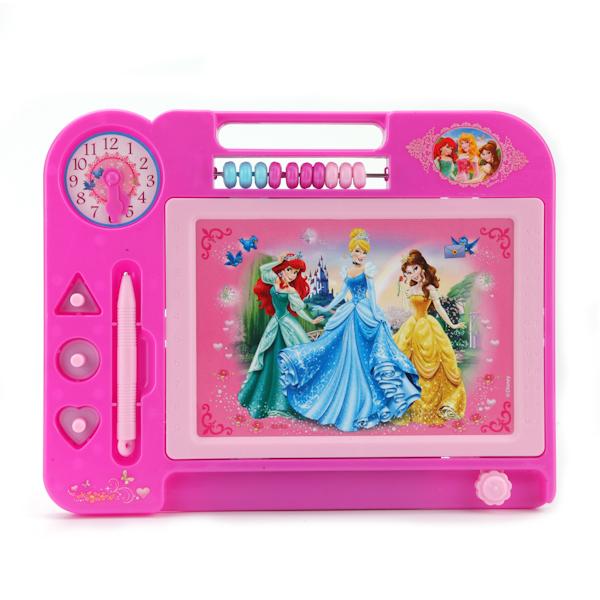 Купить Магнитная доска «Принцессы Дисней» для рисования, черно-белая, счеты, Играем вместе