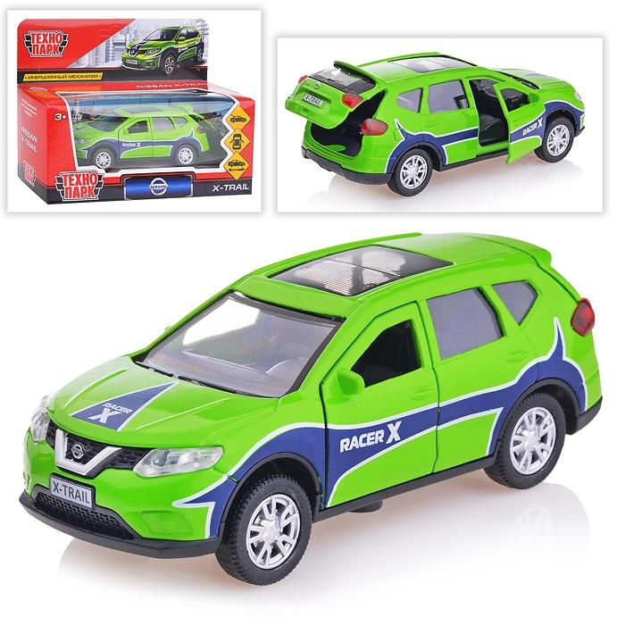 Купить Машина металлическая Nissan X-Trail Спорт 12 см, открываются двери, инерционная, Технопарк