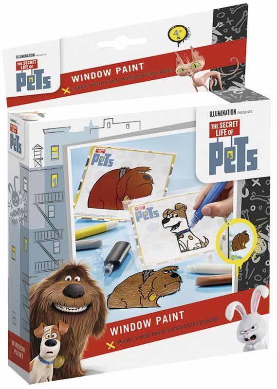 Набор для творчества The Secret Life of Pets – Оконные краскиВитраж<br>Набор для творчества The Secret Life of Pets – Оконные краски<br>