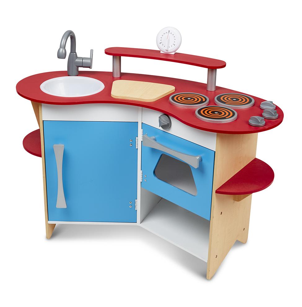 Купить Игрушечная деревянная кухня, звук, Melissa&Doug