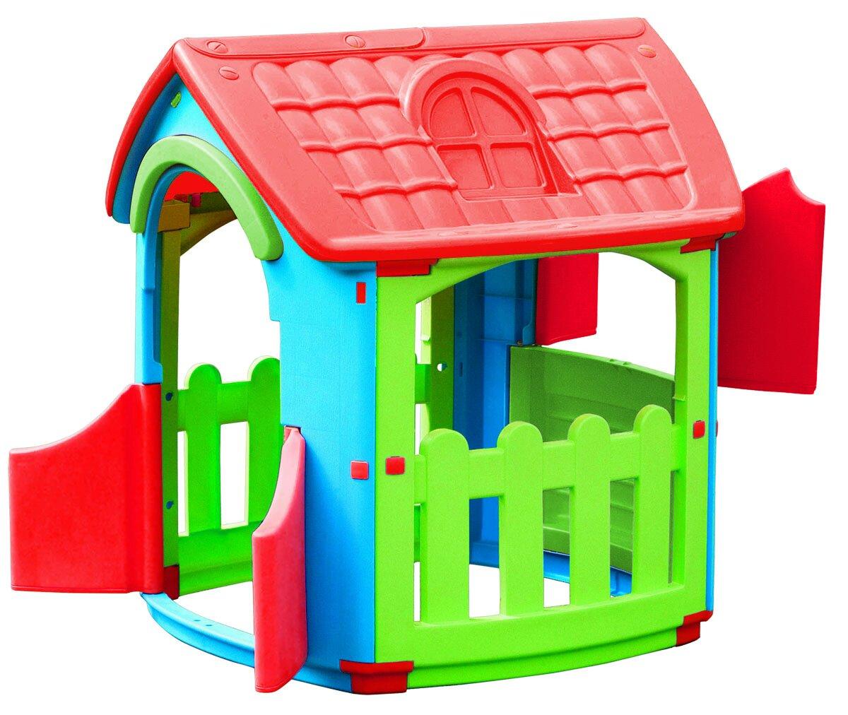 Игровой домик с открывающимися дверцами и ставнямиПластиковые домики для дачи<br>Игровой домик с открывающимися дверцами и ставнями<br>