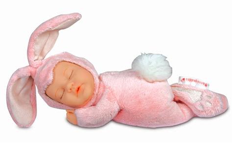 Кукла из серии - Детки-кролики, розовые, 23 смКуклы детки ANNE GEDDES<br>Кукла из серии - Детки-кролики, розовые, 23 см<br>