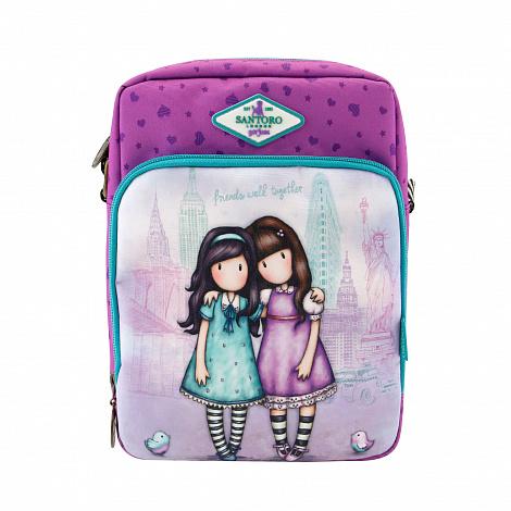 Прямоугольная сумка через плечо Cityscape - Friends Walk Together из серии Gorjuss