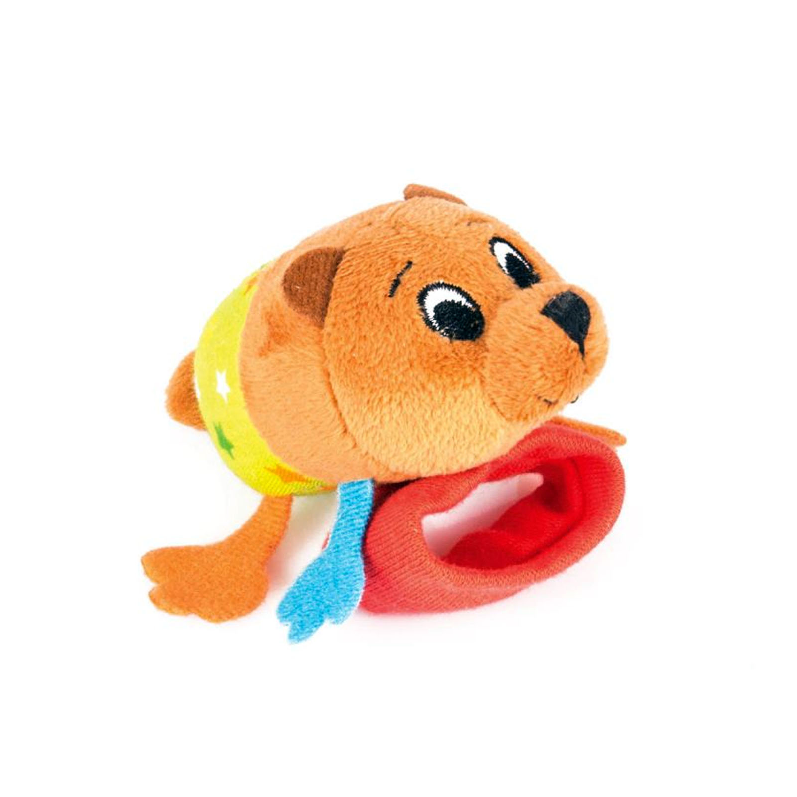 Купить Игрушка-погремушка на ручку Медвежонок Берни, Happy Snail