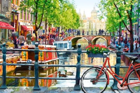 Пазл Пейзаж, Амстердам, 1000 элементовПазлы 1000 элементов<br><br>