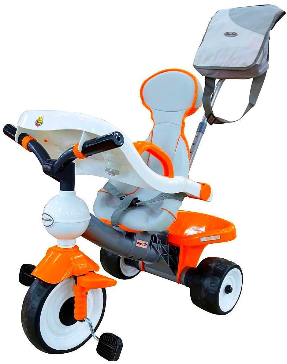 Велосипед 3-колесный 46581 Coloma Comfort ANGEL DI Orange с игровой панелью, оранжевыйВелосипеды детские<br>Велосипед 3-колесный 46581 Coloma Comfort ANGEL DI Orange с игровой панелью, оранжевый<br>