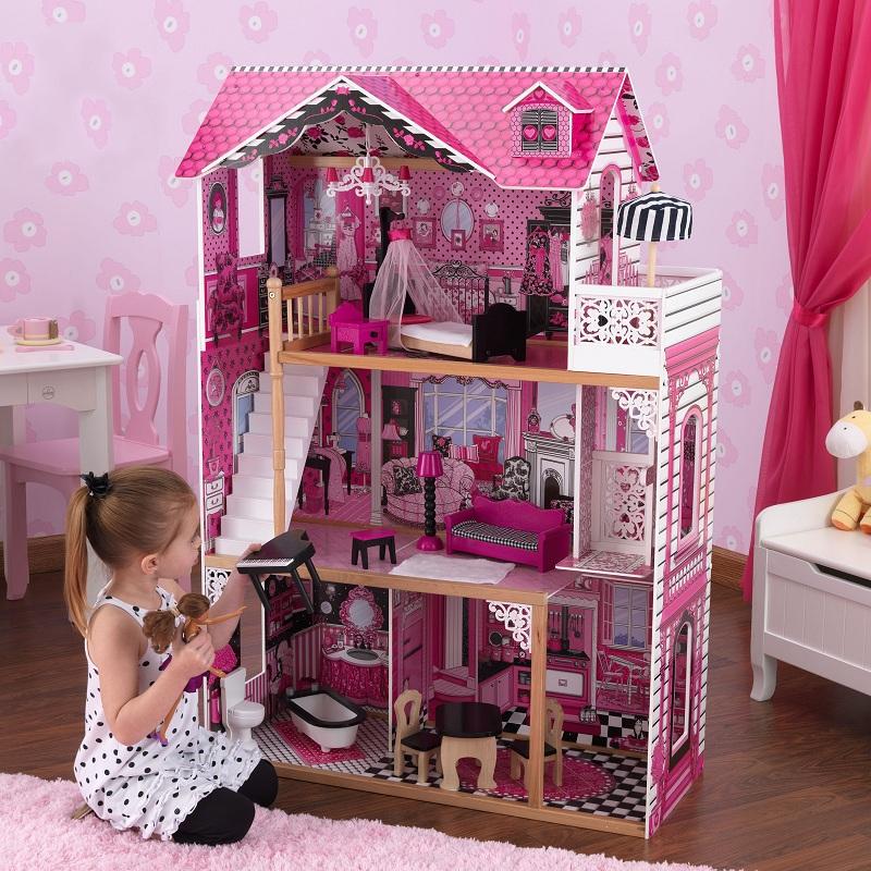 Купить Кукольный домик для Барби с мебелью – Амелия в подарочной упаковке, KidKraft