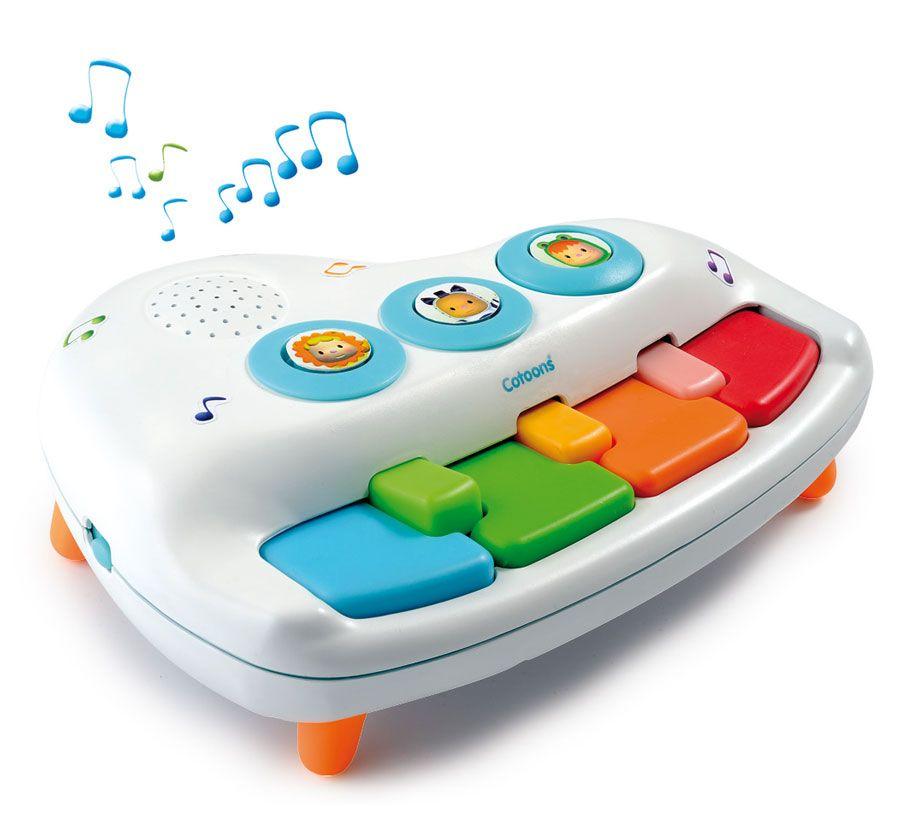 Cotoons. Пианино малыша, 6 мелодий - Детские развивающие игрушки, артикул: 7287