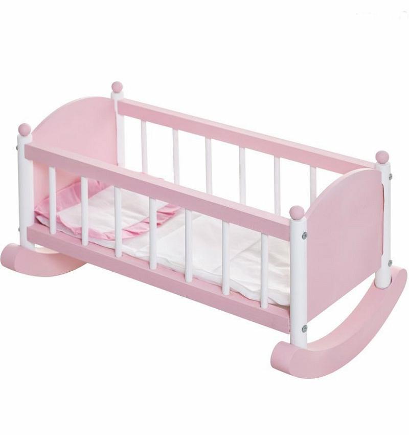 Кукольная люлька, розоваяДетские кроватки для кукол<br>Кукольная люлька, розовая<br>