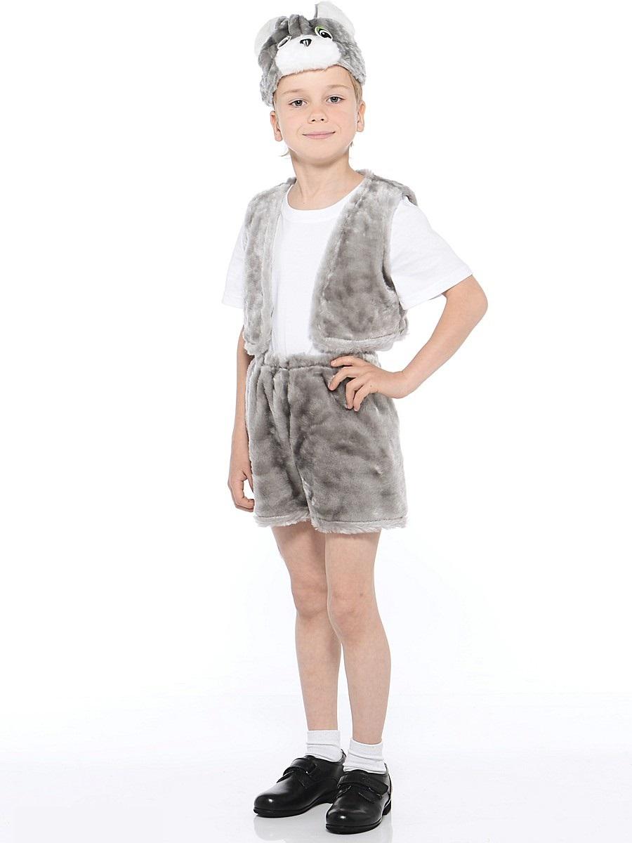 Костюм карнавальный детский – Кот серый, мех, размер 28Карнавальные костюмы<br>Костюм карнавальный детский – Кот серый, мех, размер 28<br>