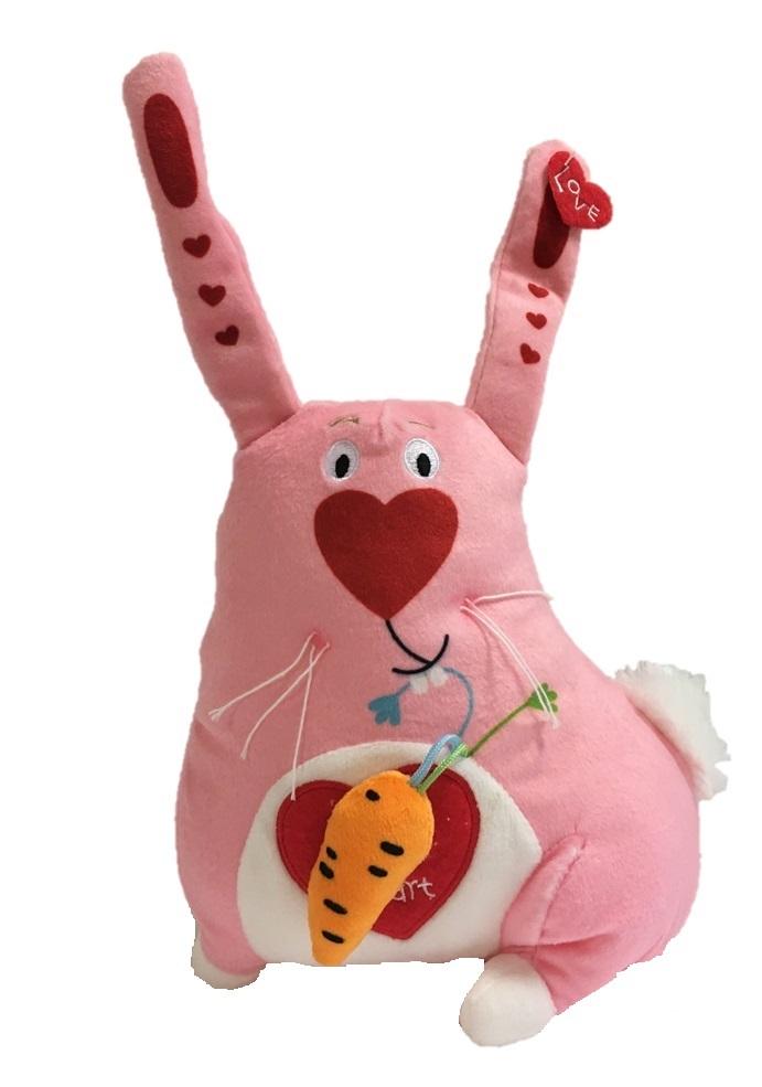 Мягкая игрушка - Зайка люблю, 20 см. фото