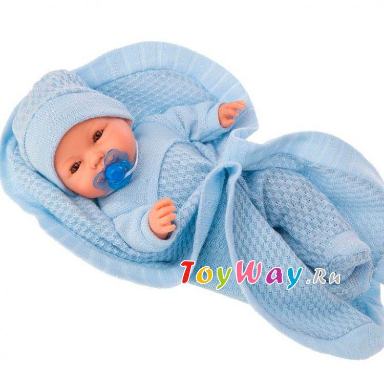 Купить Интерактивная кукла - Гектор в голубом, плачет, 37 см, Antonio Juans Munecas