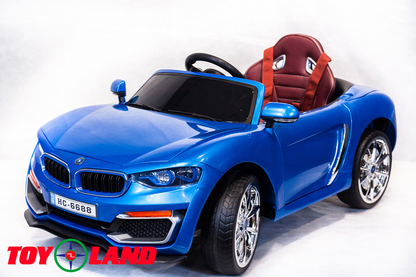Электромобиль BMW синийЭлектромобили, детские машины на аккумуляторе<br>Электромобиль BMW синий<br>