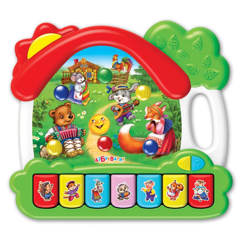 Купить Музыкальная игрушка - Домик. Сказки, свет и звук, Азбукварик