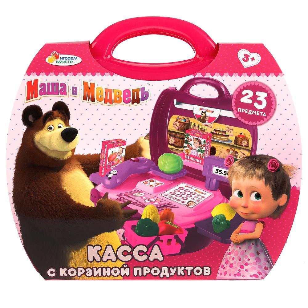 Купить Касса из серии Маша и Медведь с набором продуктов, 23 предмета, Играем вместе
