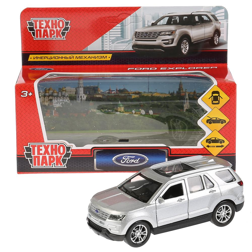 Купить Машина металлическая Ford Explorer 12 см, открываются двери, инерционная, цвет серебристый, Технопарк