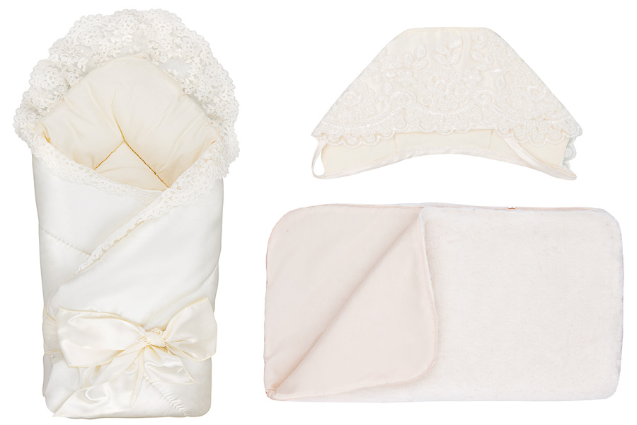 Конверт  одеяло на выписку М-2014, бежевый - Конверты, комплекты на выписку, артикул: 171321
