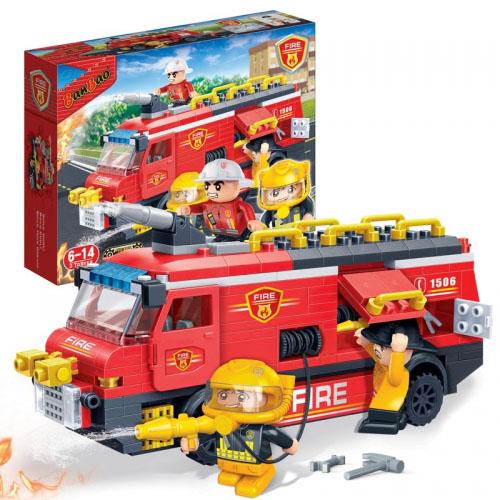Конструктор - Пожарная машина, 288 деталейКонструкторы BANBAO<br>Конструктор - Пожарная машина, 288 деталей<br>