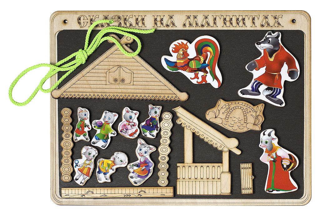 Сказки на магнитах - Волк и 7 козлятДетский кукольный театр <br>Сказки на магнитах - Волк и 7 козлят<br>