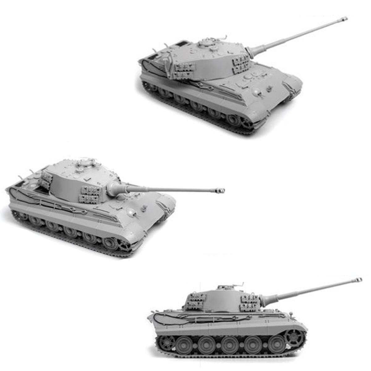 Модель сборная. Немецкий тяжёлый танк Королевский Тигр башня ХеншельМодели танков для склеивания<br>Модель сборная. Немецкий тяжёлый танк Королевский Тигр башня Хеншель<br>