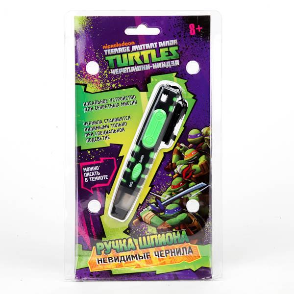 Ручка шпиона «Черепашки-ниндзя» с подсветкой и невидимыми черниламиШпионские игрушки. Наборы секретного агента<br>Ручка шпиона «Черепашки-ниндзя» с подсветкой и невидимыми чернилами<br>