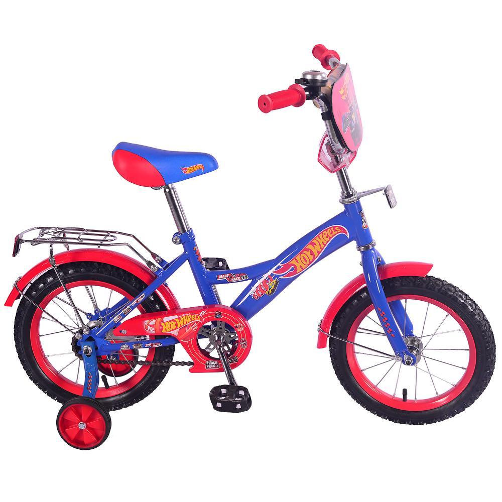 """Детский велосипед – Hot Wheels, 14"""", GW-тип, сине-красный Mustang"""