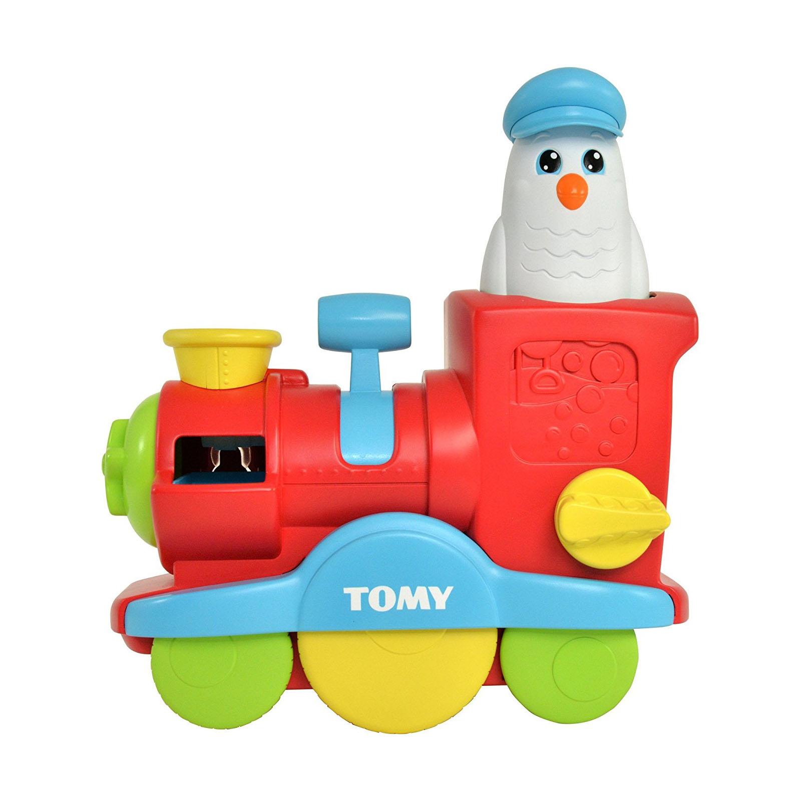 Купить Игрушка для ванны - Веселый паровозик с мыльными пузырями, Tomy