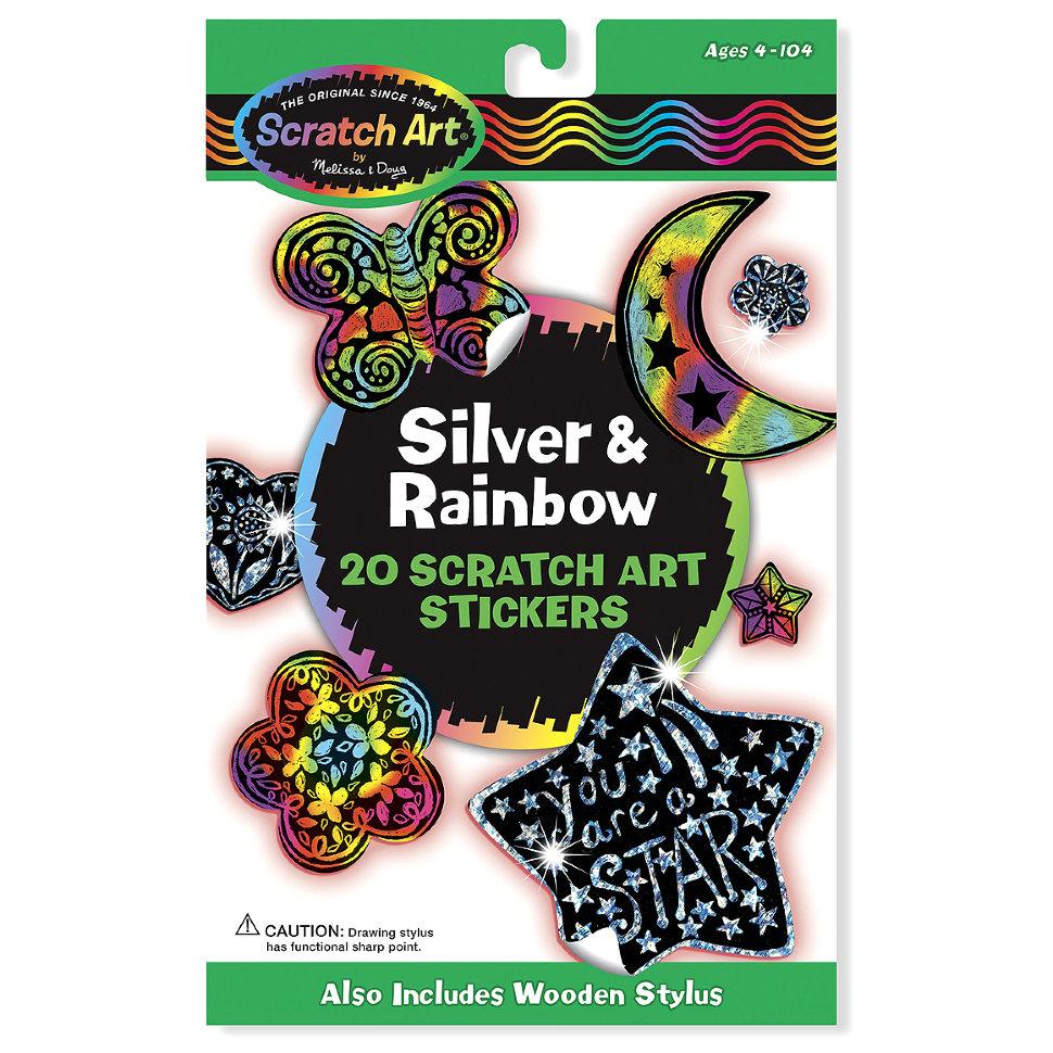 Набор стикеров «Scratch Art серебро и радуга»Наклейки<br>Набор стикеров «Scratch Art серебро и радуга»<br>