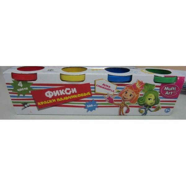 Пальчиковые краски - Фиксики, 4 штуки от Toyway