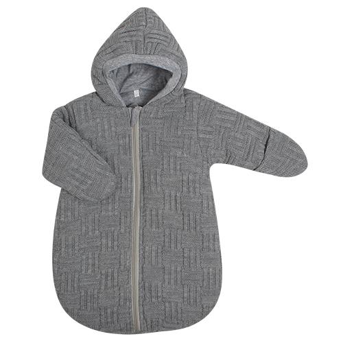 Спальный вязанный мешок, серый, рост 62 см - Конверты, комплекты на выписку, артикул: 171501