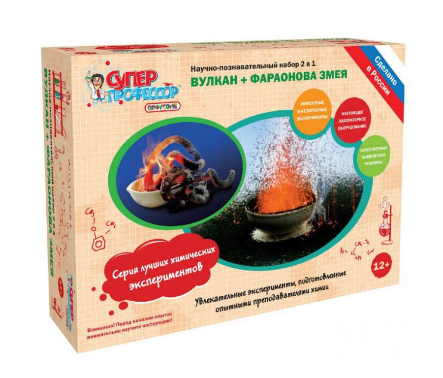 Купить Набор для экспериментов 2 в 1 – Вулкан и Фараонова Змея, Научные технологии
