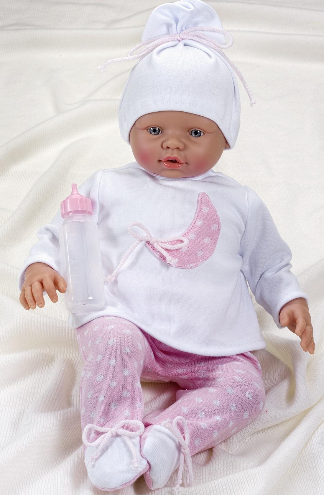 Кукла Неус с бутылочкой, 45 см.Куклы ASI (Испания)<br>Кукла Неус с бутылочкой, 45 см.<br>